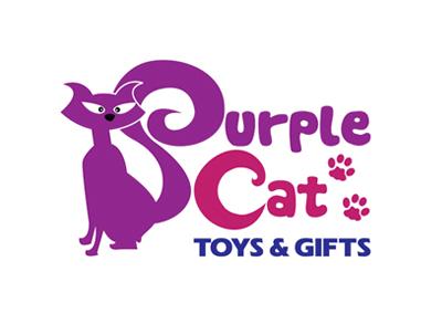 Brand Logo Cat Face Purple